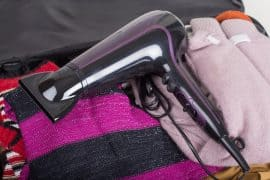 The smallest travel hairdryer