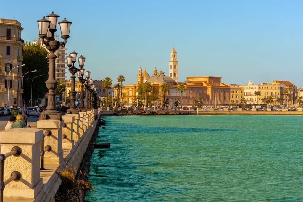 Bari seafront - Southern Italy itinerary