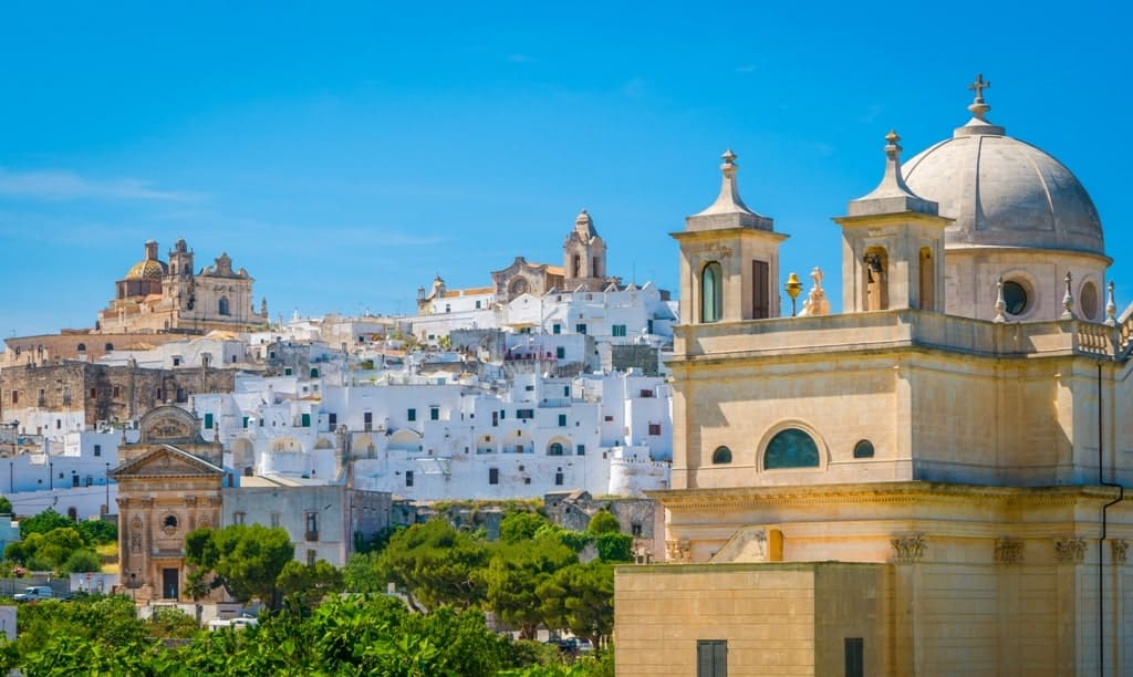 Panoramic view of Ostuni - things to do in Puglia