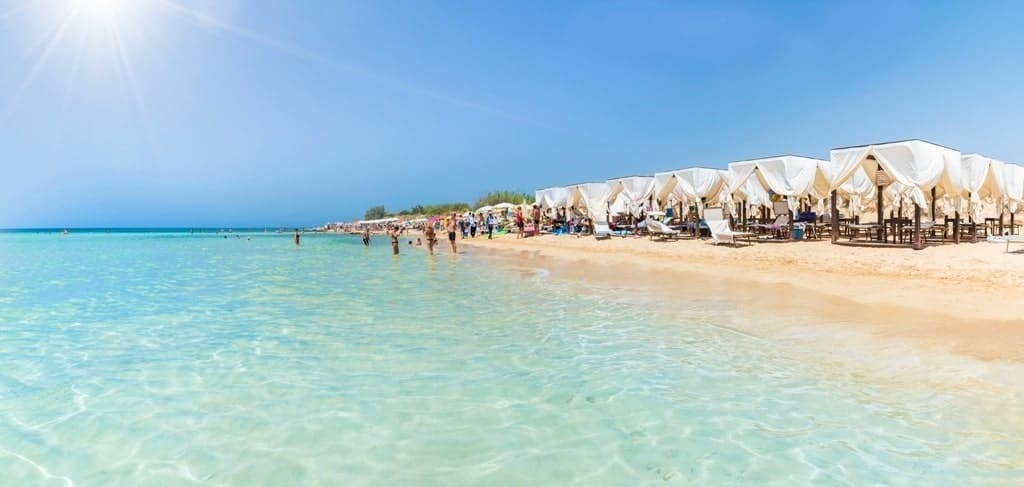 Pescoluse, the Maldives of salento beach, Puglia,