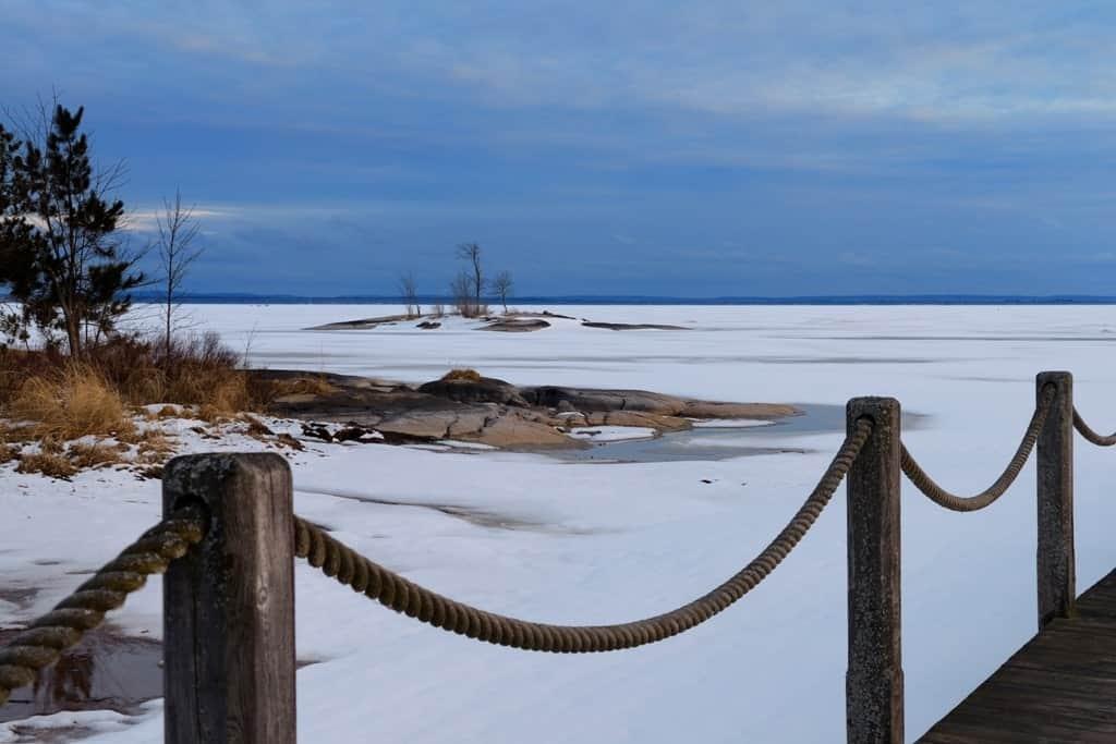 frozen Lake Nipissing