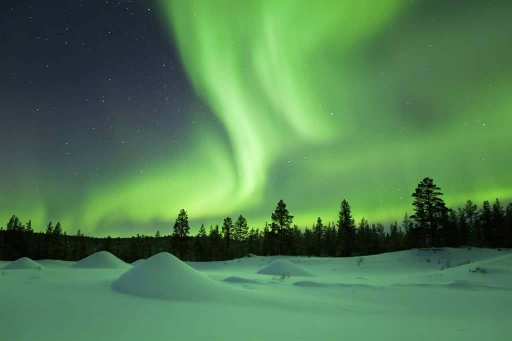 Northern Lights in Lapland Finland - Best country to go in Europe in December