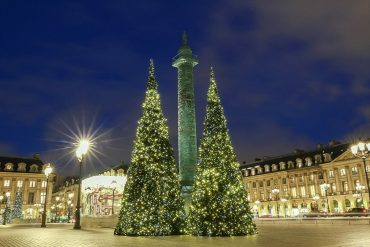 Paris in winter - place Vendome decorated for Christmas