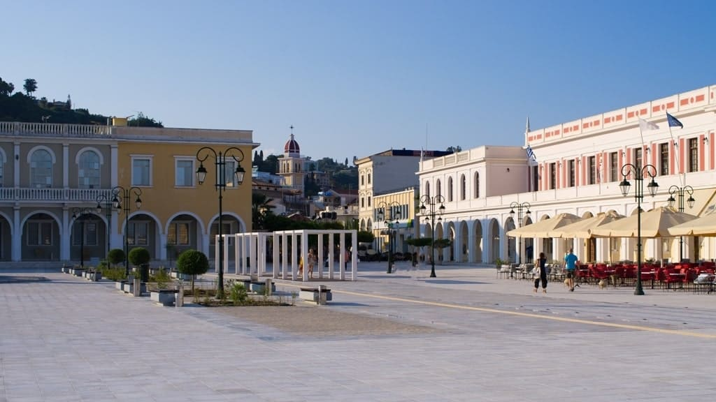Town square of Zakynthos