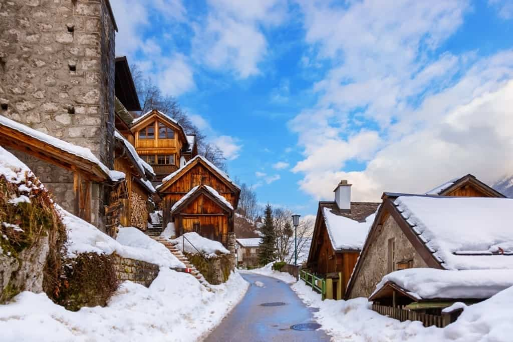 Hallstatt village - best winter destinations in Austria