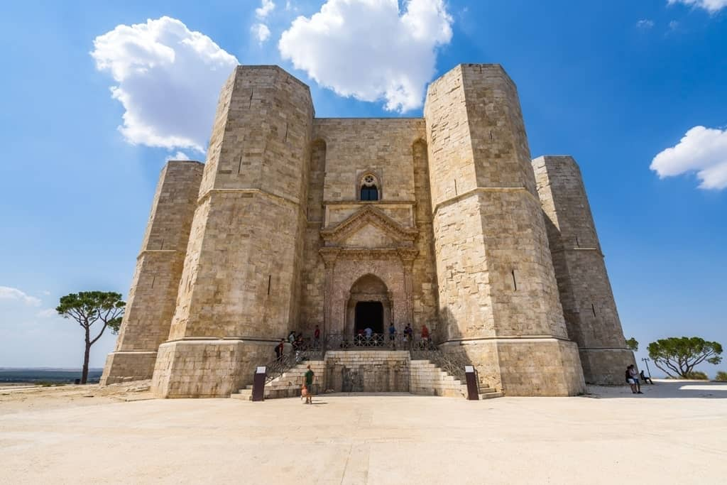 main entrance of Castel del Monte, an UNESCO World Heritage Site. Andria - things to do in Puglia