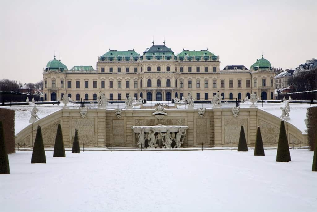 Belvedere Palace - Austria in winter