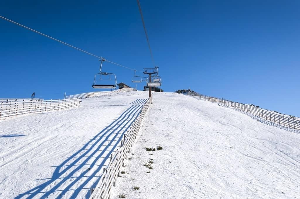 Navacerrada Ski Resort Madrid in winter
