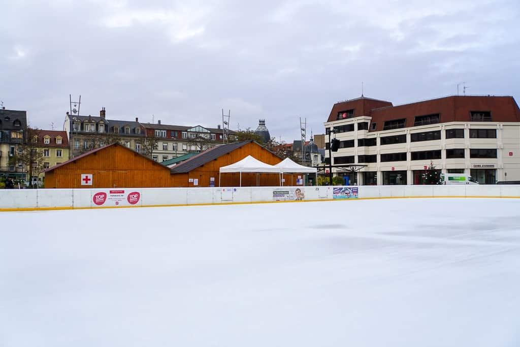 ice skating in Colmar in winter