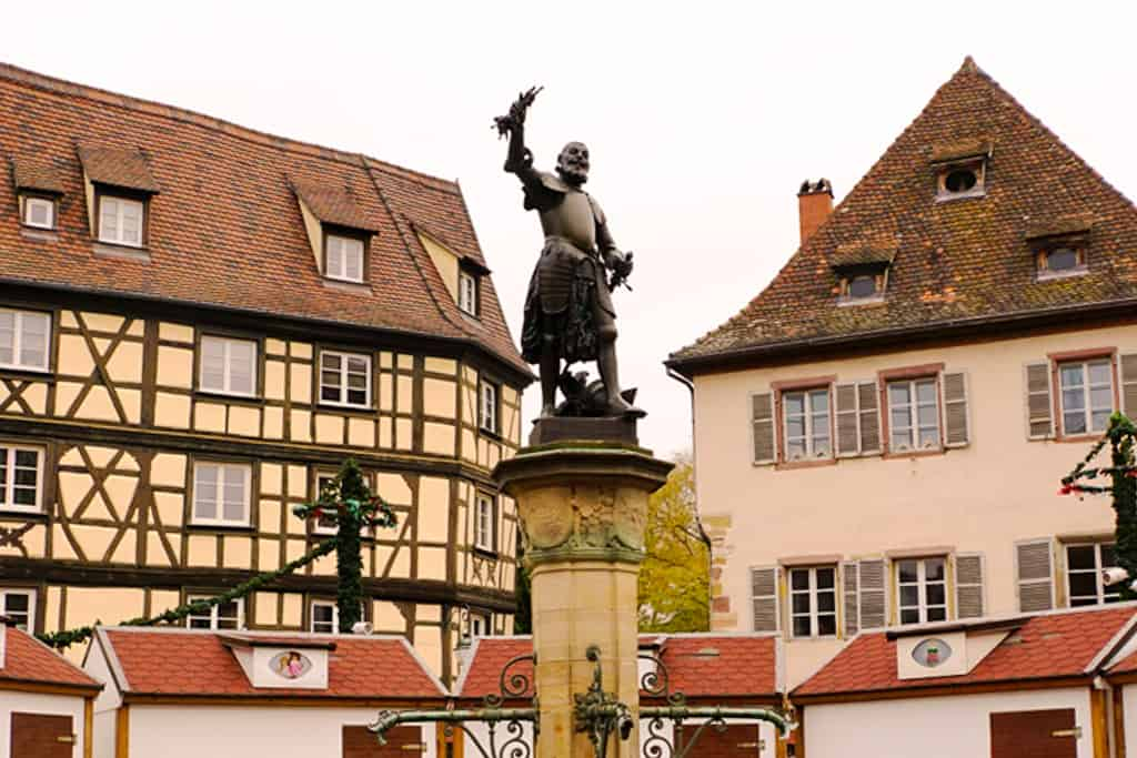 Schwendi Fountain - thngs to do in Colmar in a day