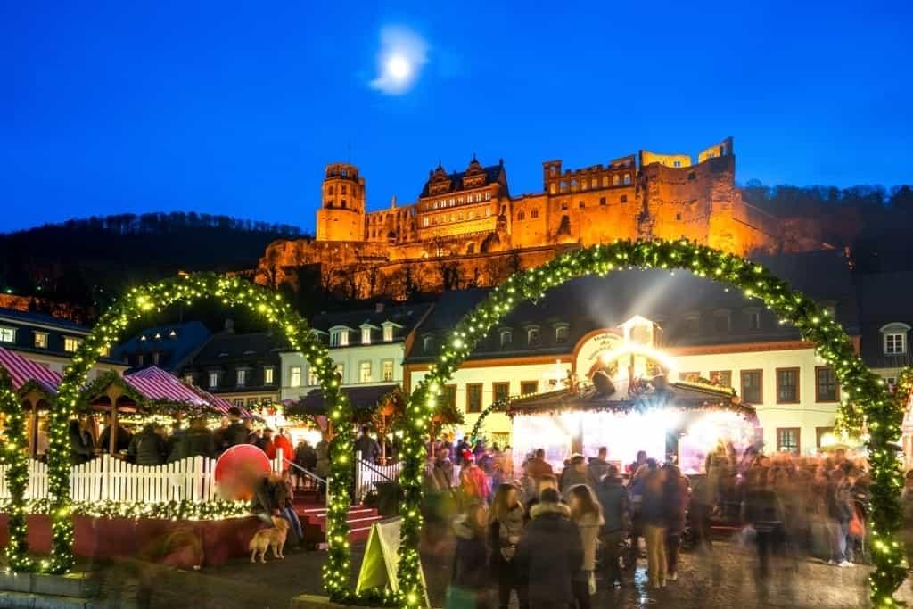 Heidelberg Christmas market in winter
