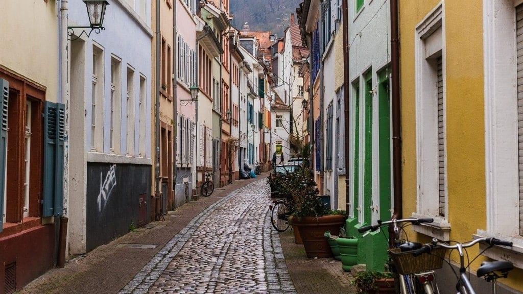 narrow streets of heidelberg's old city Heidelberg in winter