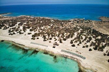 Chrissi island drone photo