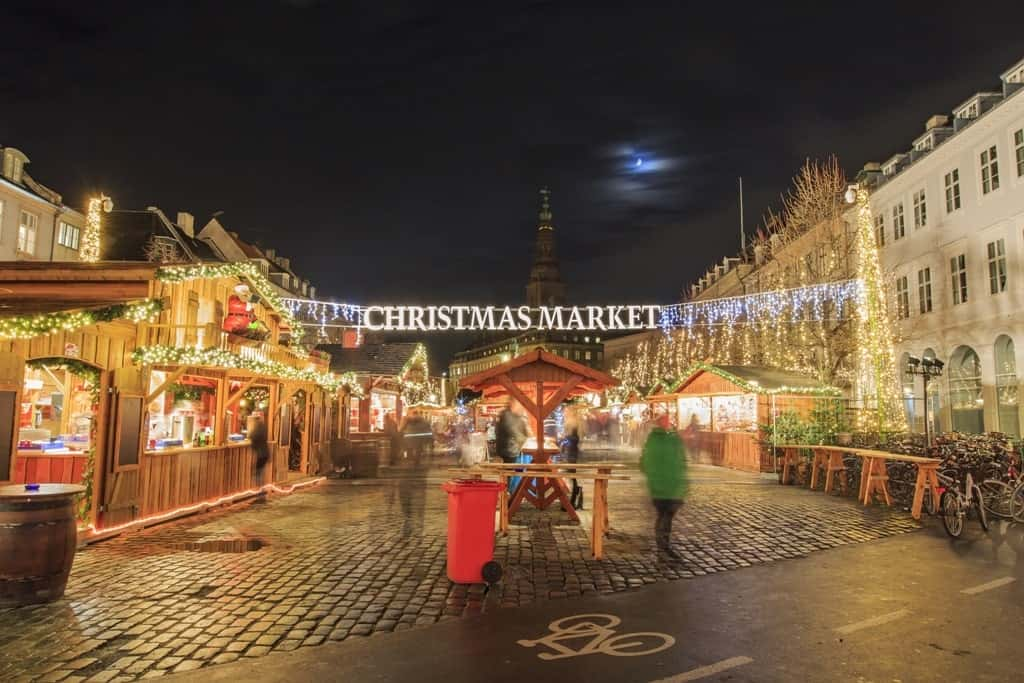 Copenhagen Christmas Market in winter