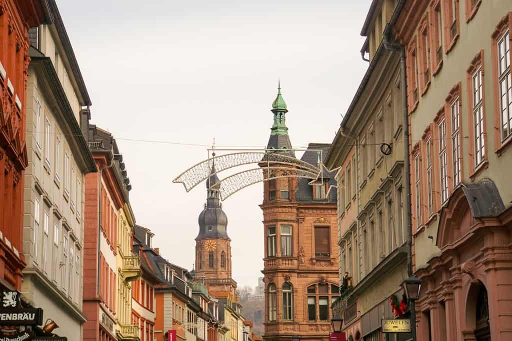 Heidelberg Germany in winter