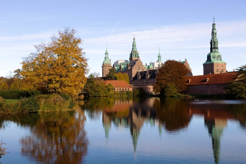 Frederiksborg Castle in autumn