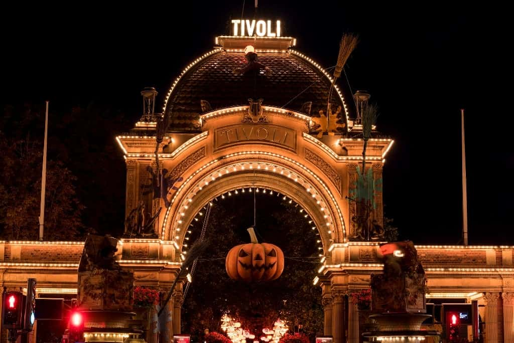 Halloween in Tivoli Gardens - the best time to visit Copenhagen