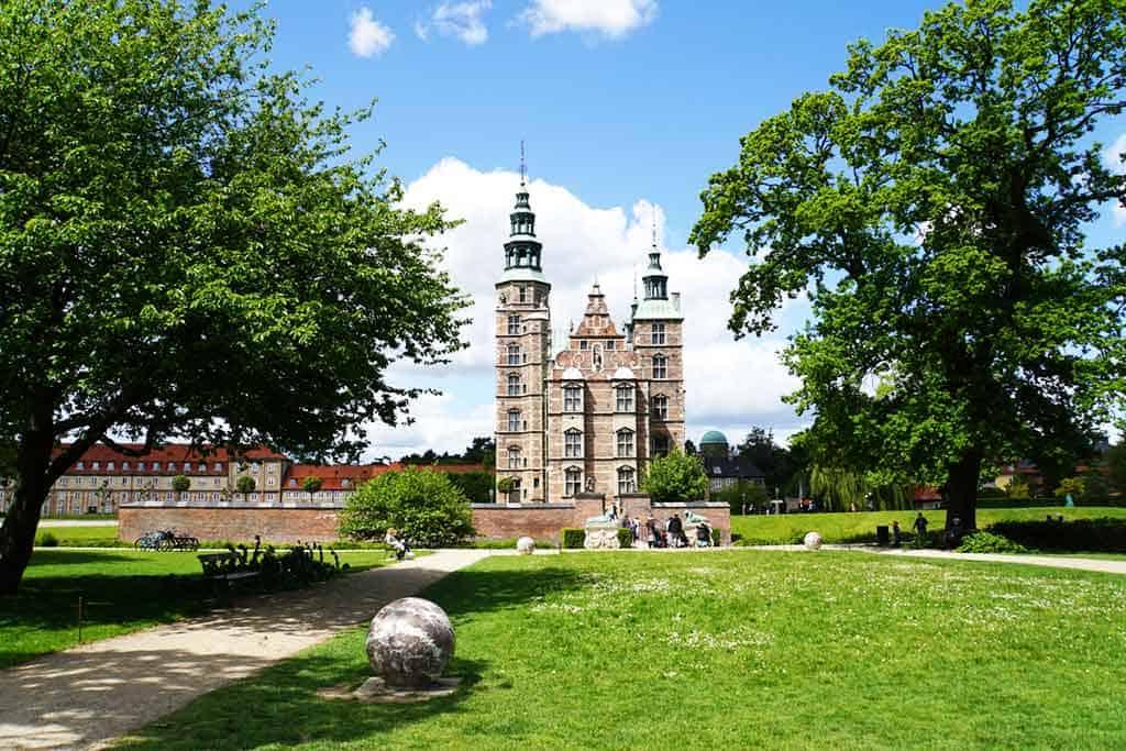Kings Garden and Rosenborg Castle in Copenhagen, Denmark
