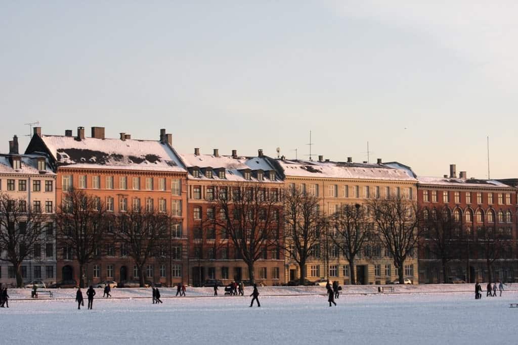 ice skating in Copenhagen in winter