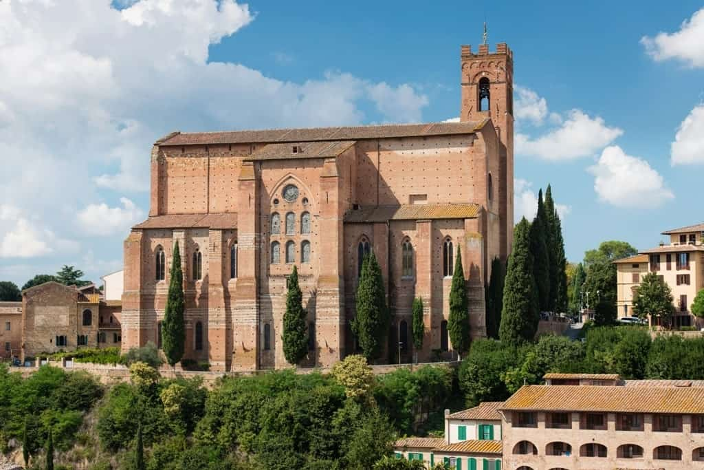 San Domenico church - things to do in Siena in a day