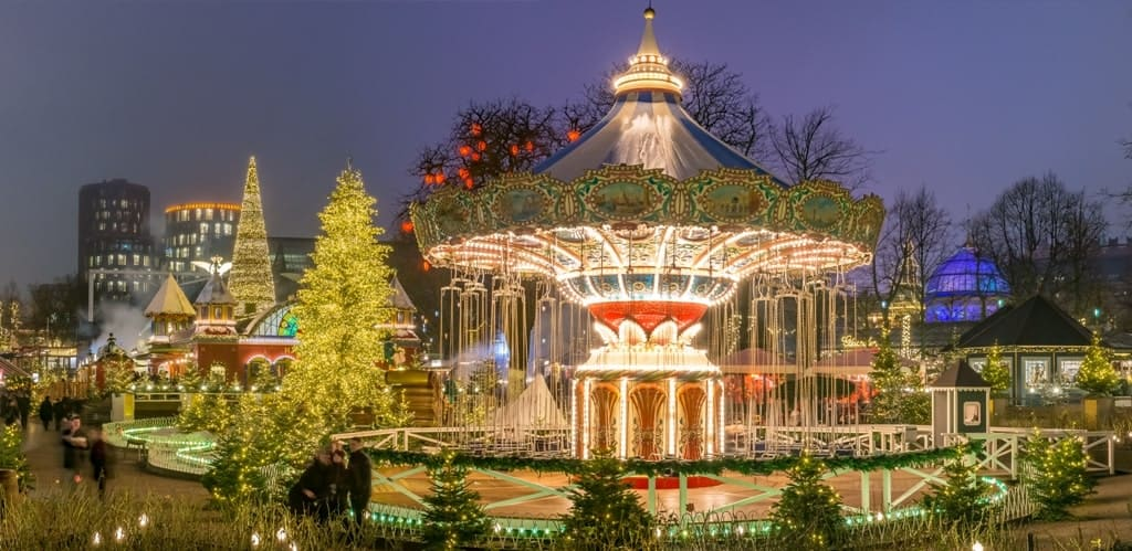Tivoli Gardens in Copenhagen in winter