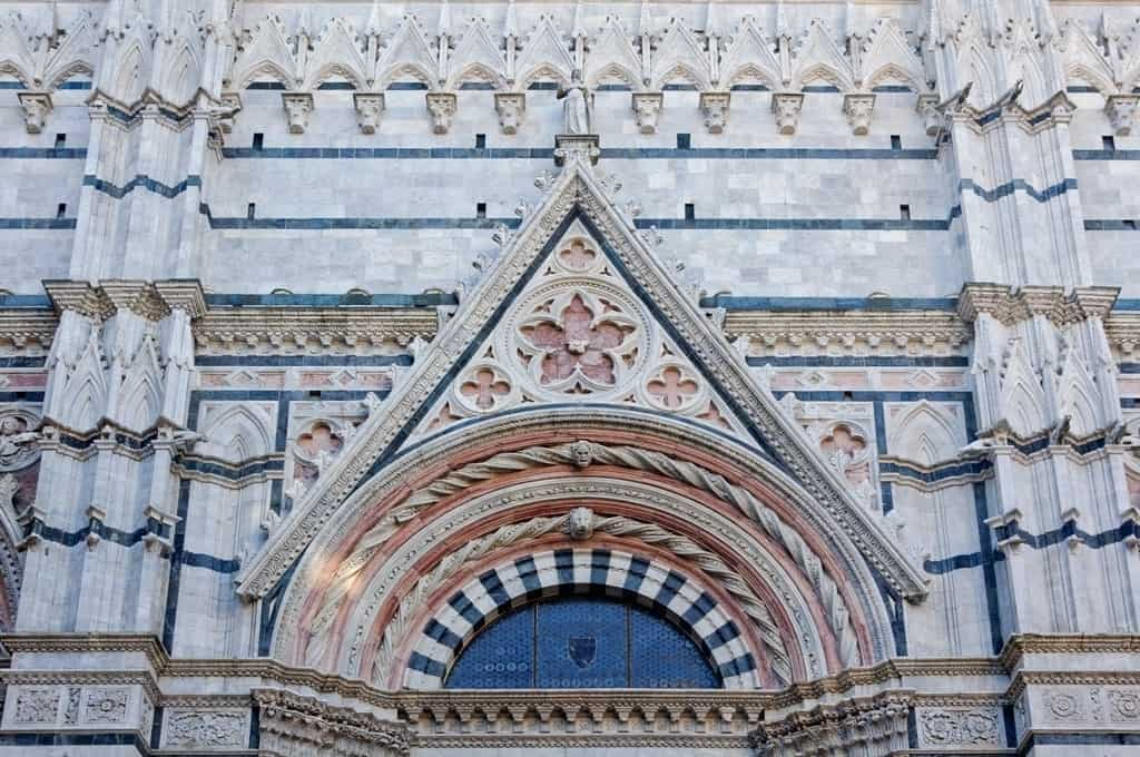 The entrance to the Baptistery, Siena