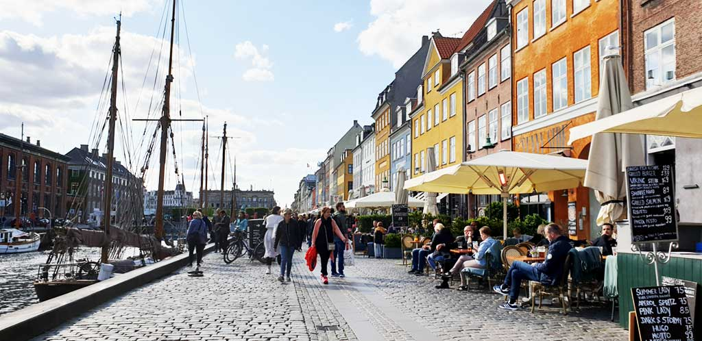 Walking in Copenhagen, Denmark