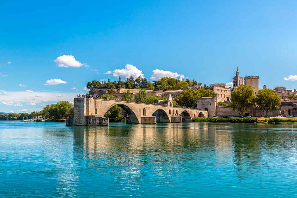 medieval villages and towns in France Avignon