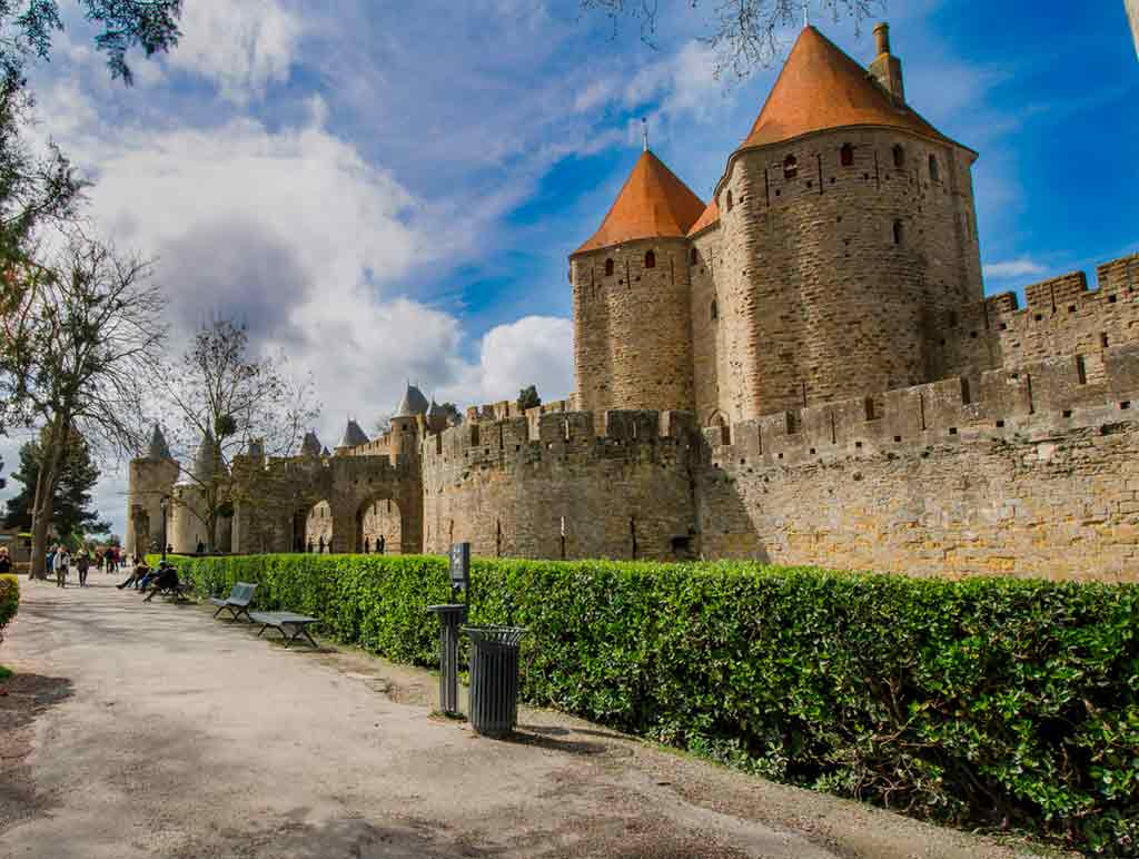 medieval villages and towns in France Carcassonne