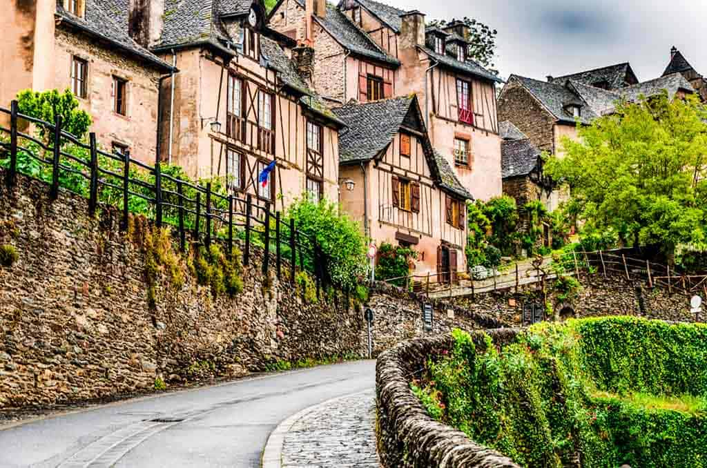 medieval villages and towns in France Conques