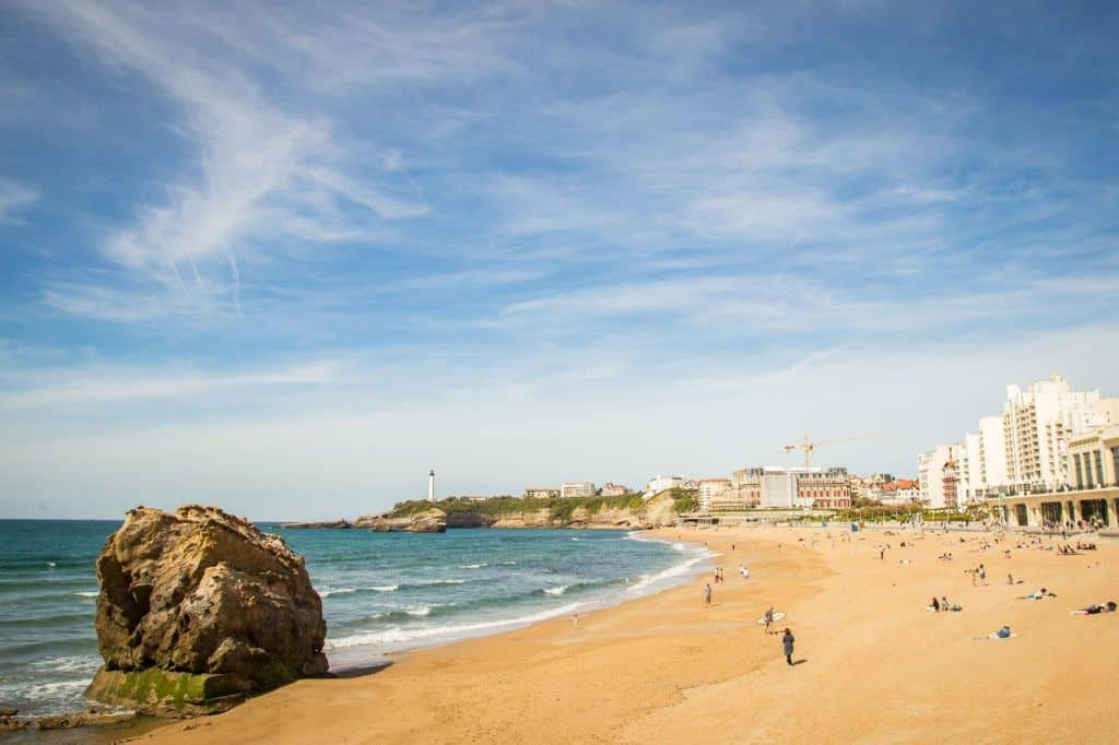 France - Biarritz - Grande plage - best beaches in South France