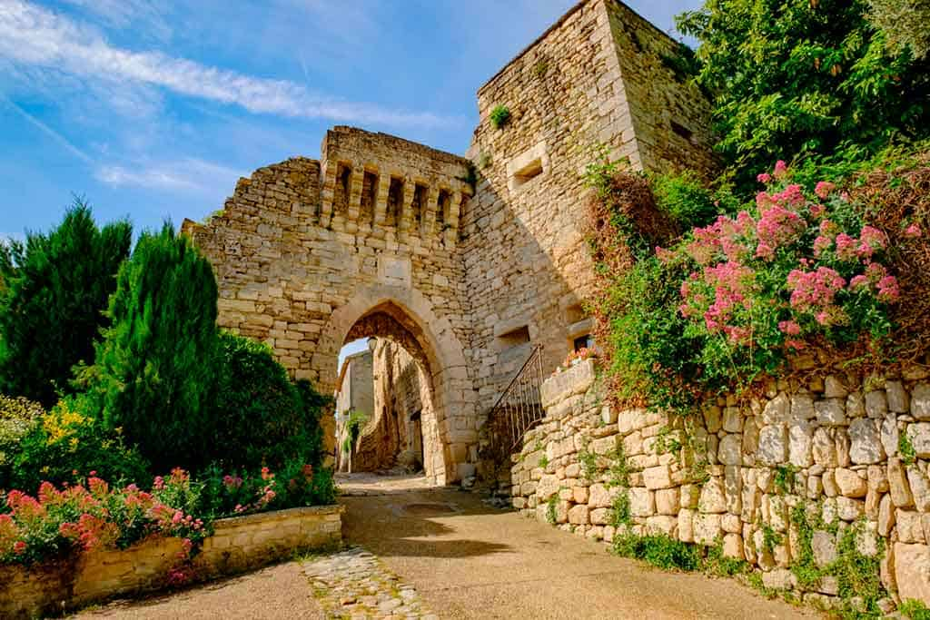 medieval villages and towns in France Lacoste