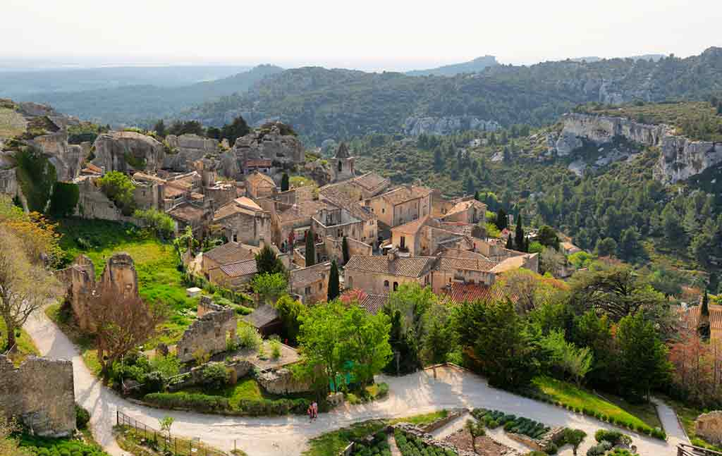 medieval villagesns in France Les Baux de Provence