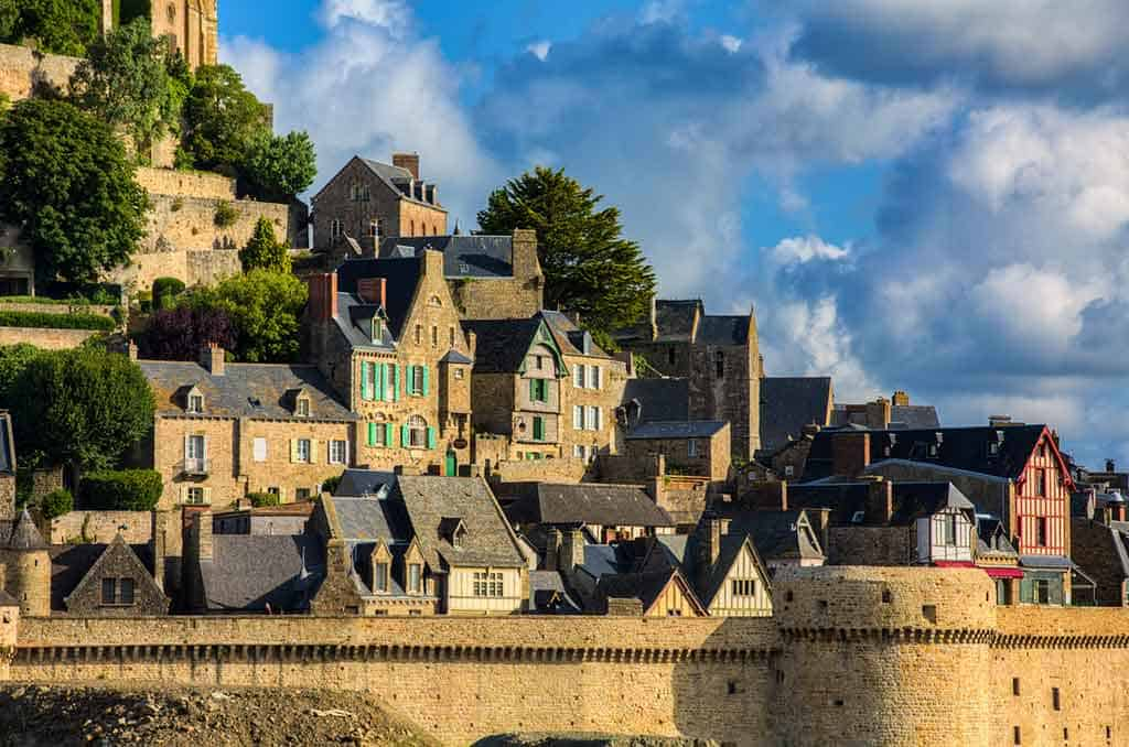 medieval villages in France Mont Saint Michel