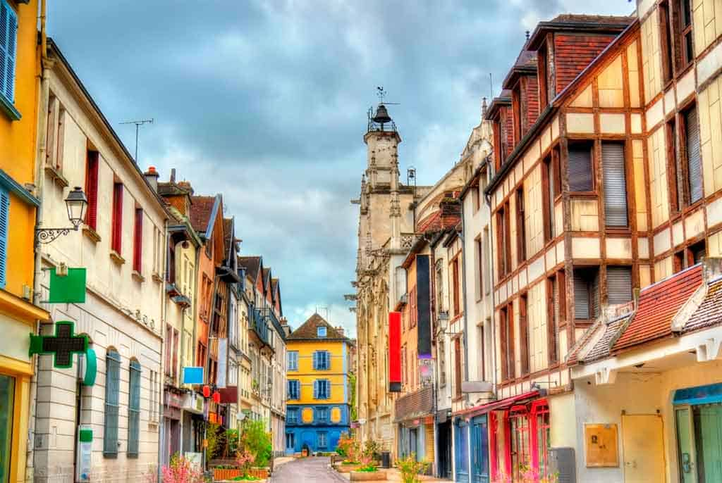 medieval villages and towns in France Troyes