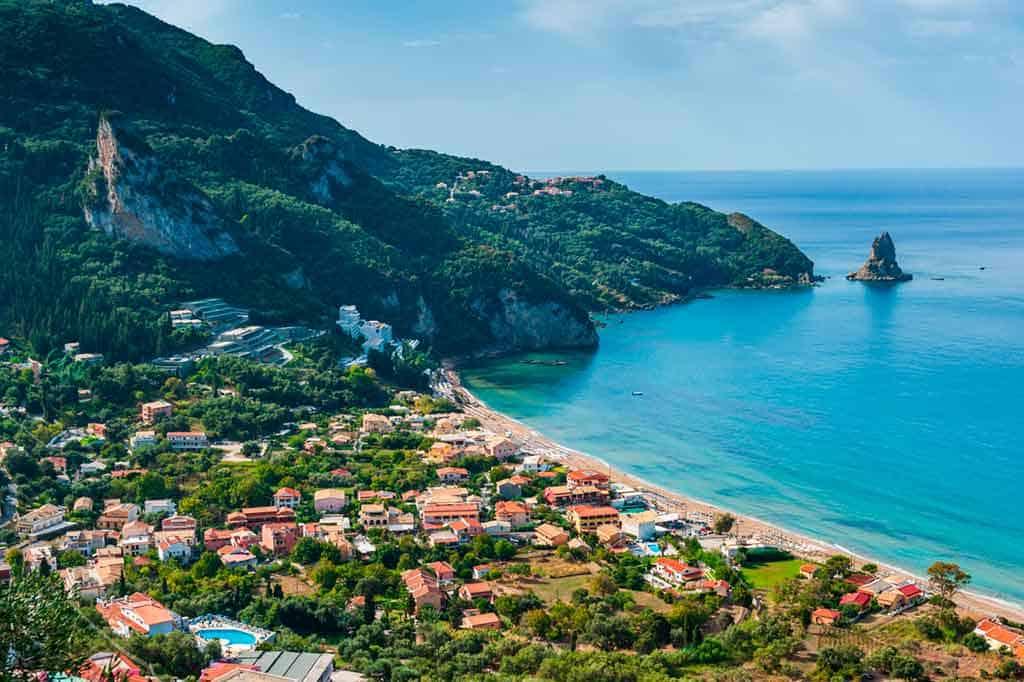 Famous beaches in Corfu-Agios-Gordios-beach