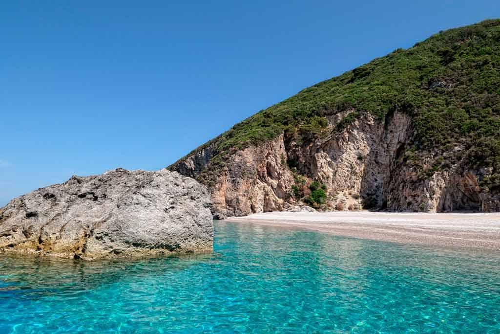 Famous beaches in Corfu-Liapades-Beach