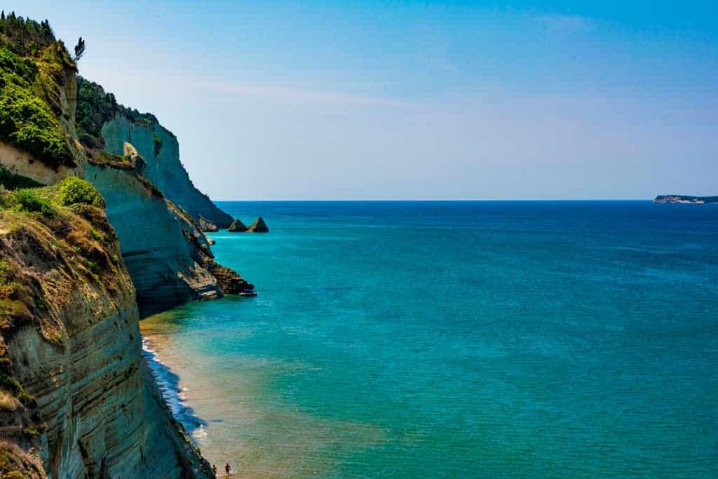 Best beaches in Corfu-Peroulades-beach