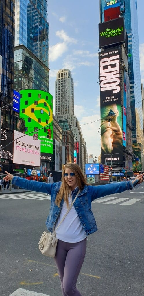 me in Times Square- New York itinerary 5 days