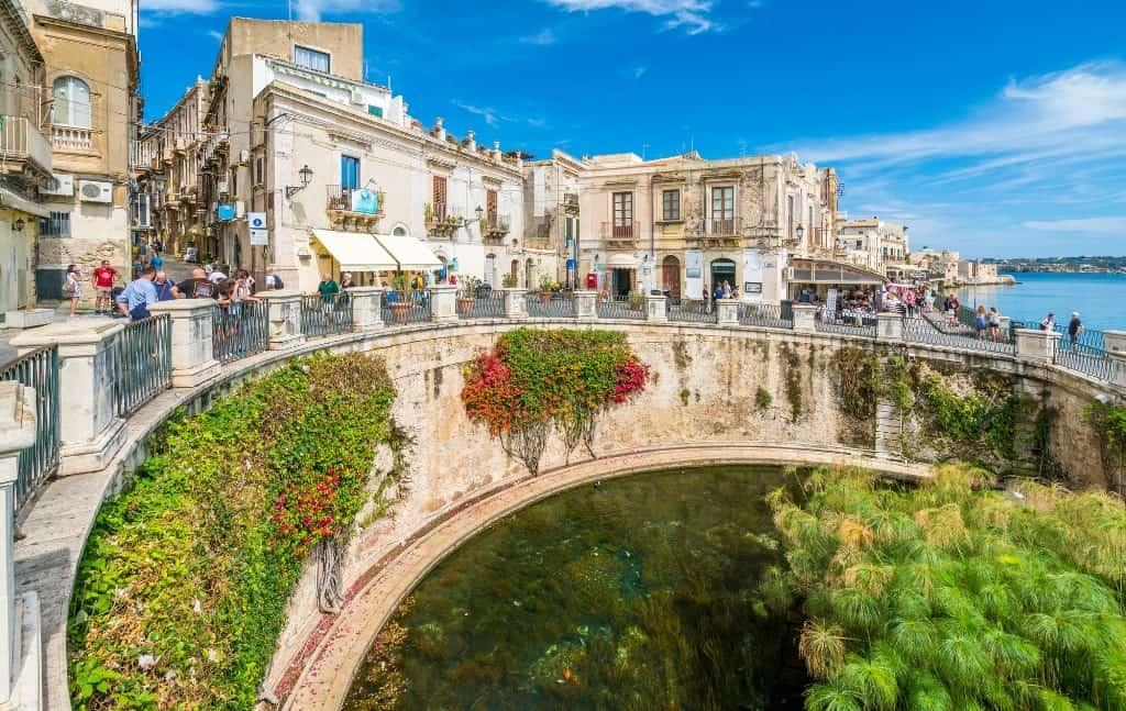 Arethusa spring Ortigia-Sicily