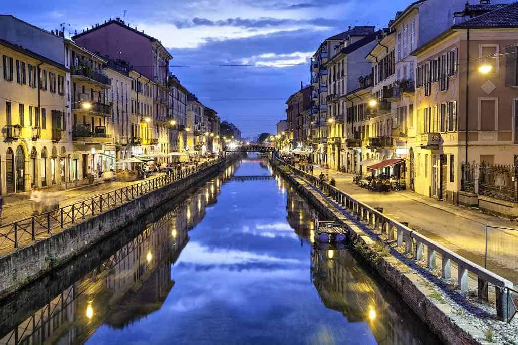 Naviglio Grande canal - Italy Switzerland itinerary