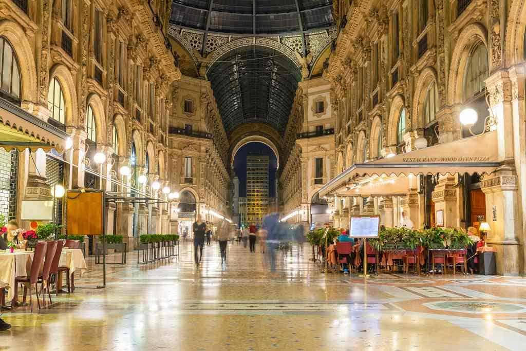 Vittorio Emanuele II Gallery - northern Italy itinerary