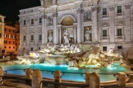 Trvi Fountain - Things to do in Rome at night