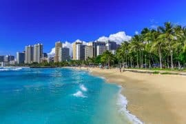 Honolulu - warm us destination in February