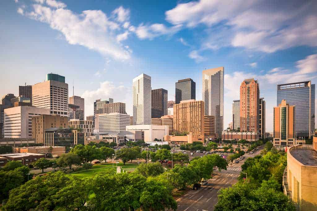 Houston - warm places to visit in the US in warm winter February