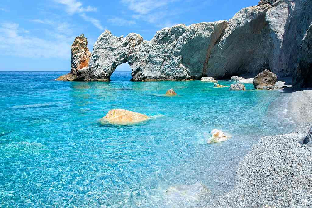 Lalaria Beach, Skiathos - best greek islands for beaches