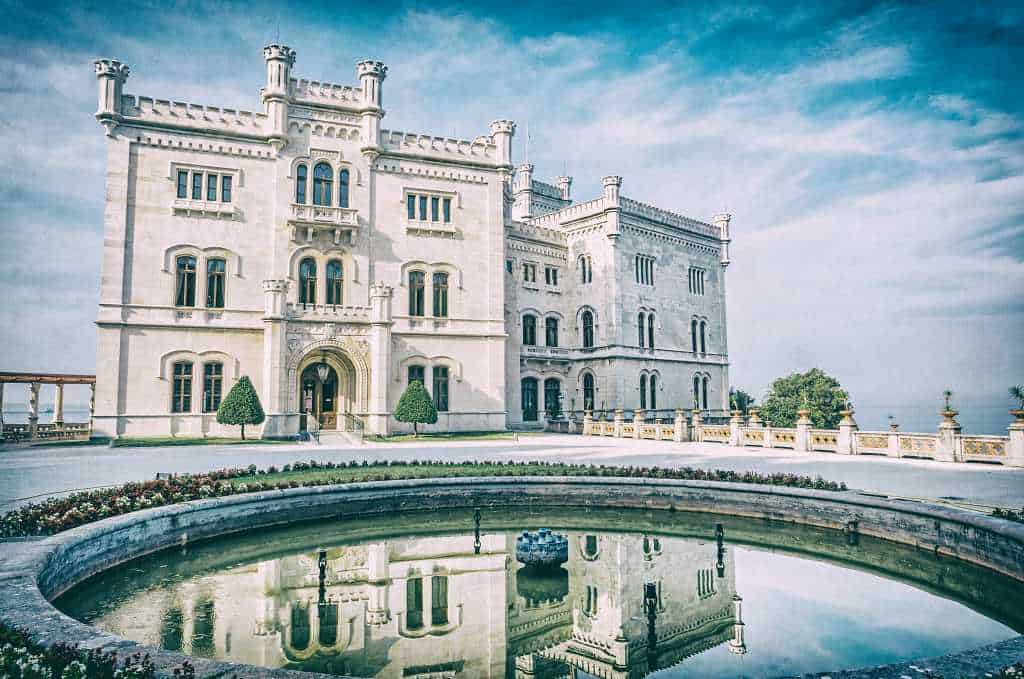 Miramare castle - Northern Italy itinerary