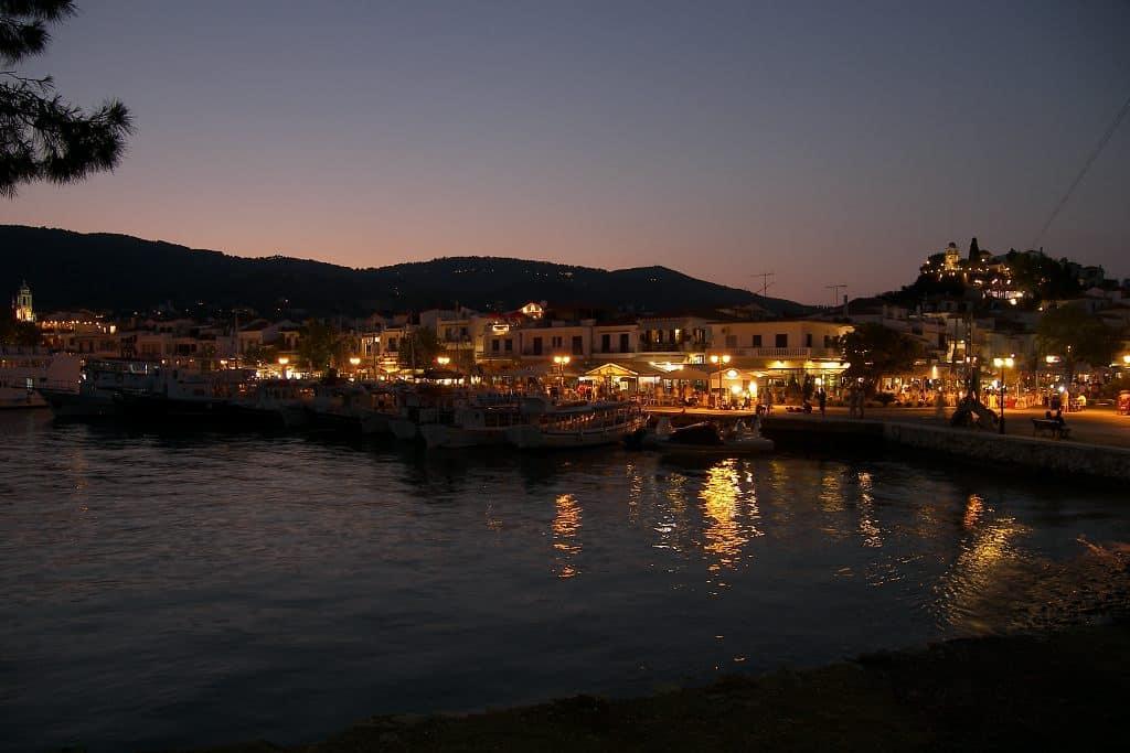 Skiathos at night