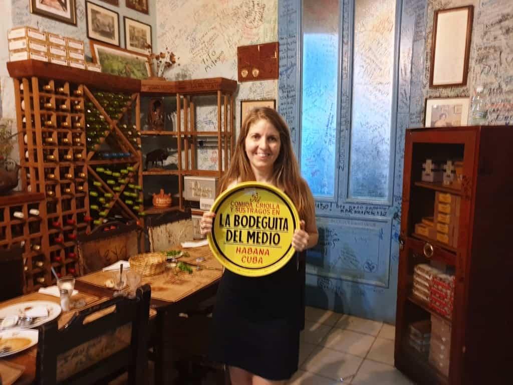 Eat at La Bodeguita del Medio restaurant Cuba