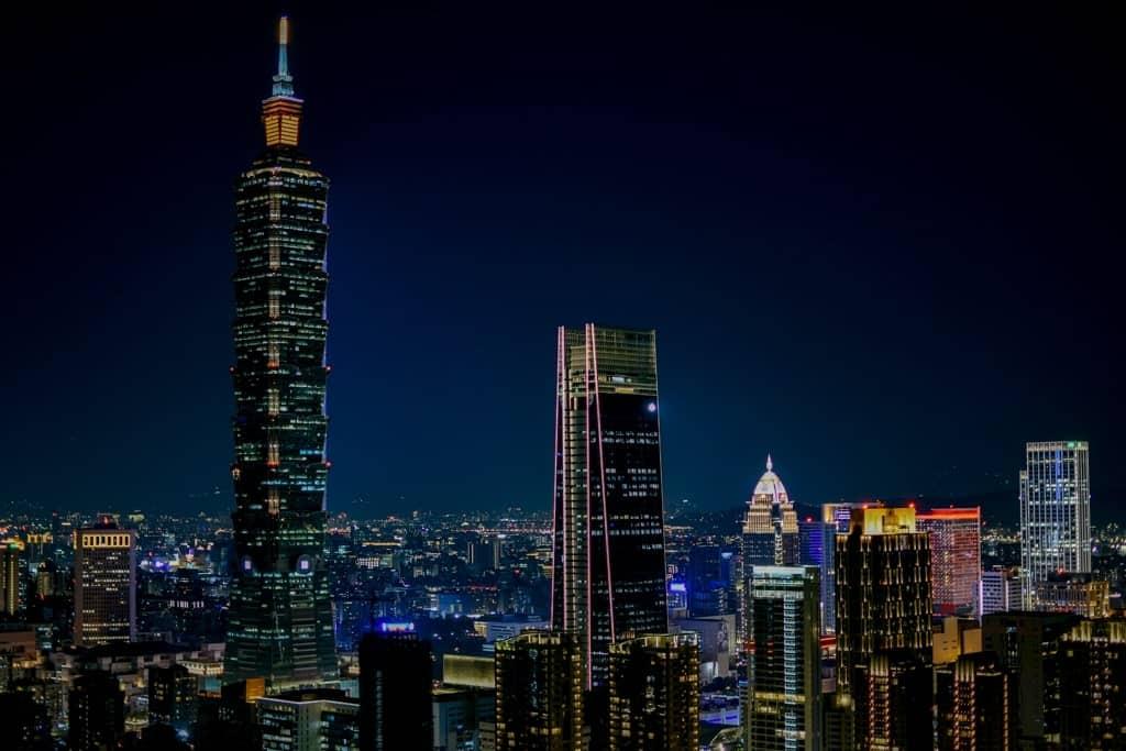Taipei from Elephant Mountain - two days in Taipei